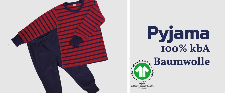 iobio Pyjama 100% kbA Baumwolle