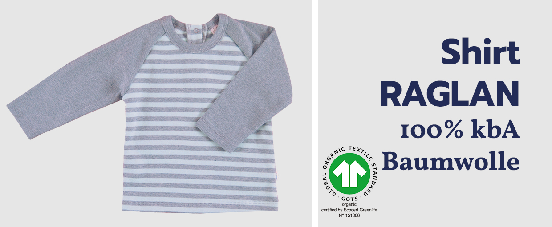 iobio Shirt RAGLAN 100% kbA Baumwolle