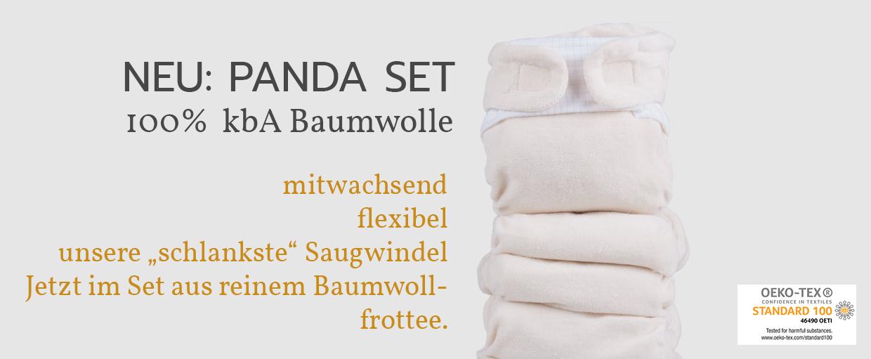 popolini Panda Set Organic 100% kbA Baumwolle